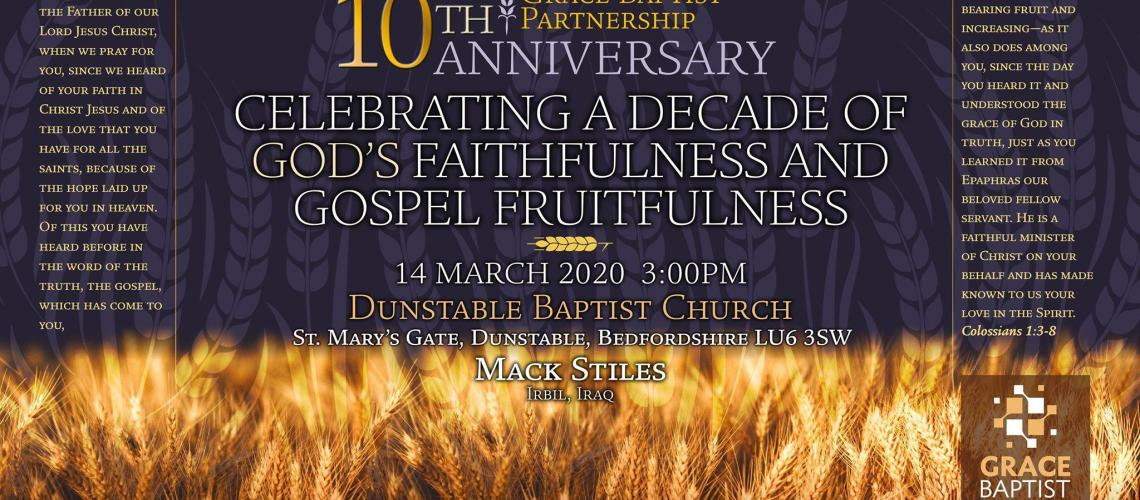 TicketEase - Sell Tickets Online - Grace Baptist Partnership 10 Anniversary