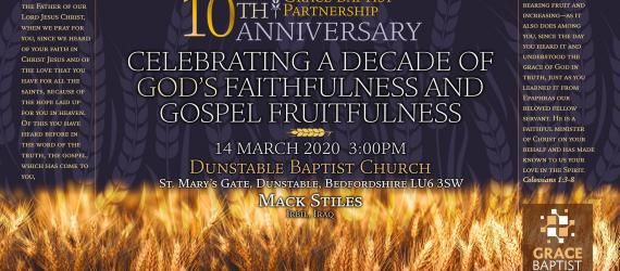 TicketEase - Sell Tickets Online - Grace Baptist Partnership 10 Anniversary
